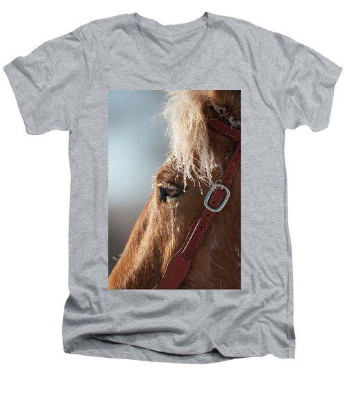 Winter Mustang Eye Men's V-Neck T-Shirt