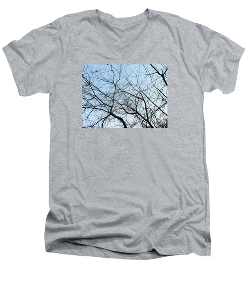 Men's V-Neck T-Shirt featuring the photograph Winter Of Life by Kay Gilley