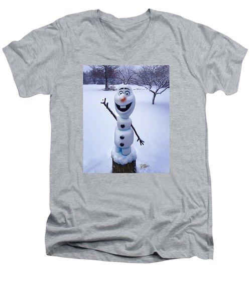Winter Olaf Men's V-Neck T-Shirt