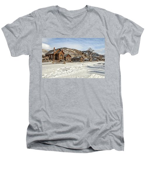 Winter On Main Street Men's V-Neck T-Shirt