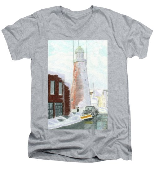 Winter On Munjoy Hill Men's V-Neck T-Shirt