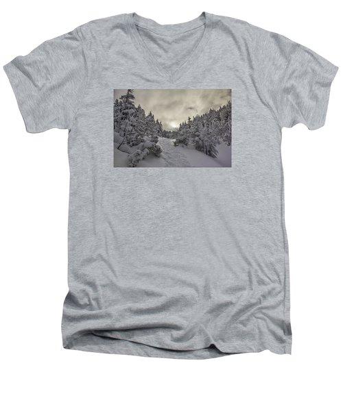 Winter On The Ammo Trail Men's V-Neck T-Shirt