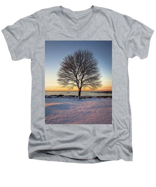 Winter On The Coast Men's V-Neck T-Shirt