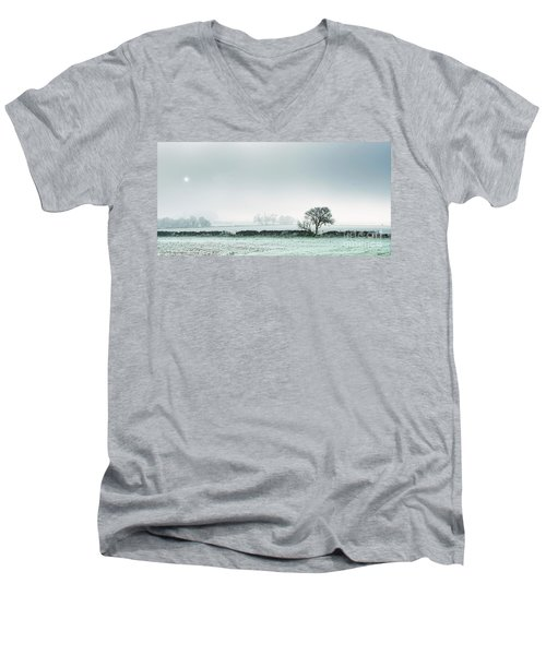 Winter On The Mendips Men's V-Neck T-Shirt