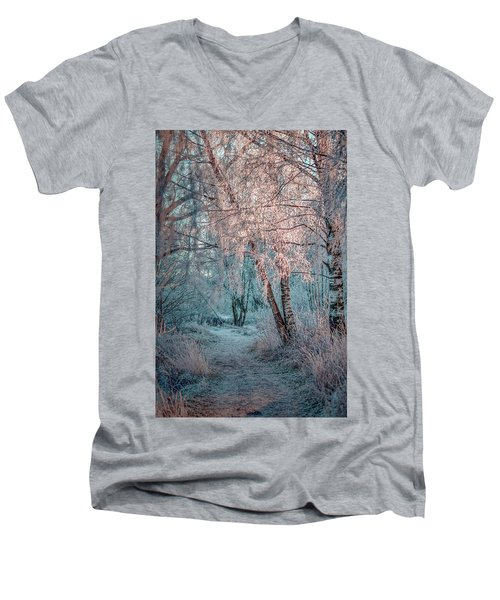 Winter Path #h1 Men's V-Neck T-Shirt