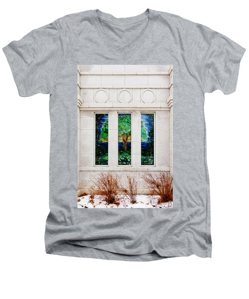 Winter Quarters Temple Tree Of Life Stained Glass Window Details Men's V-Neck T-Shirt