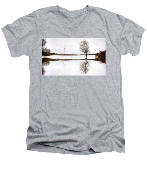 Winter Reflection Men's V-Neck T-Shirt