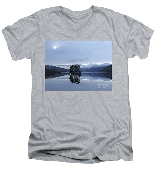 Winter Reflections - Loch Tay Men's V-Neck T-Shirt by Phil Banks