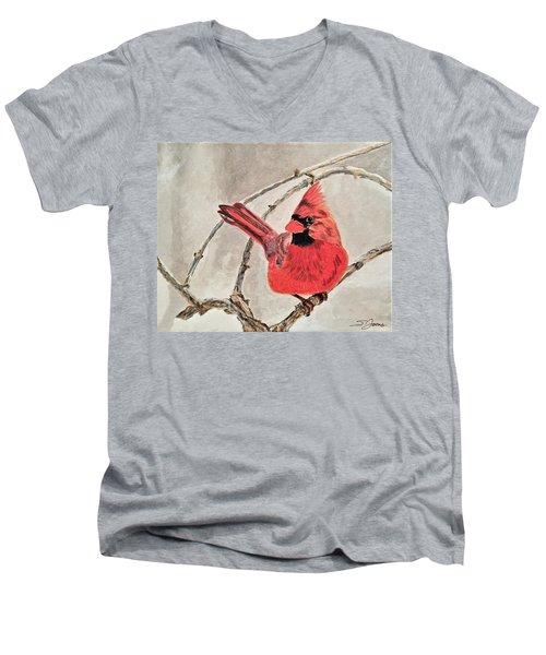 Winter Sentinal Men's V-Neck T-Shirt