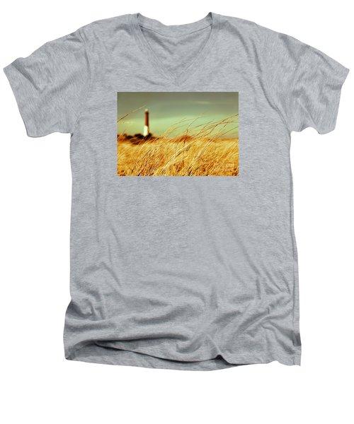 Winter Shore Breeze Men's V-Neck T-Shirt by Dana DiPasquale
