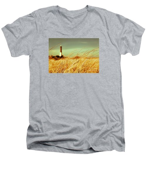 Winter Shore Breeze Men's V-Neck T-Shirt