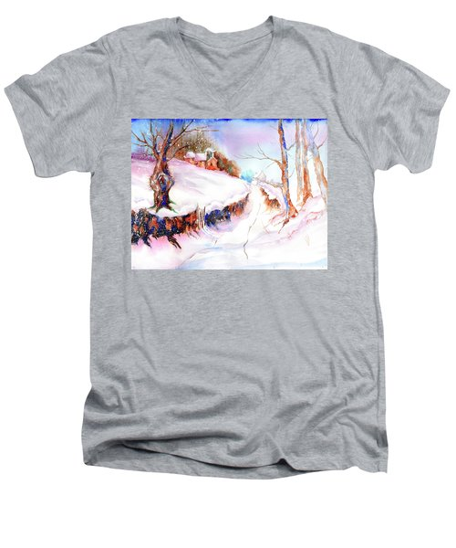 Winter Snow Men's V-Neck T-Shirt