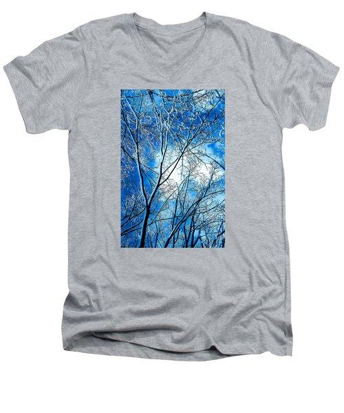 Winter Solstice Men's V-Neck T-Shirt by Michael Nowotny