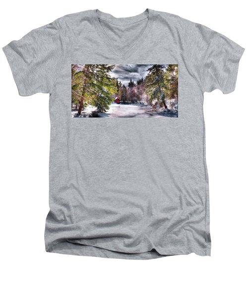 Winter Sunlight Men's V-Neck T-Shirt