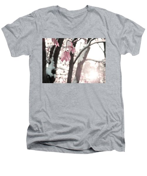 Winter Sunrise Men's V-Neck T-Shirt by Brooke T Ryan
