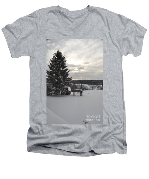 Winter Sunset - 2 Men's V-Neck T-Shirt