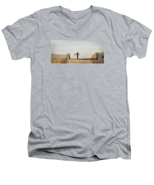 Winter Surfing Men's V-Neck T-Shirt