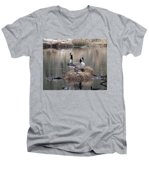 Winter Surprise Men's V-Neck T-Shirt by I'ina Van Lawick