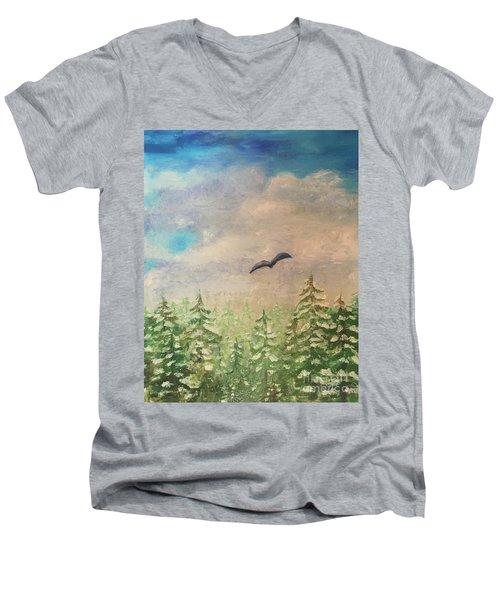 Winter To Spring Men's V-Neck T-Shirt