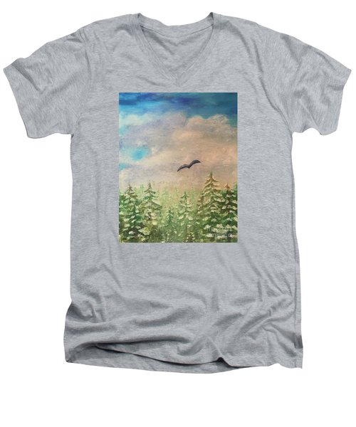 Winter To Spring Men's V-Neck T-Shirt