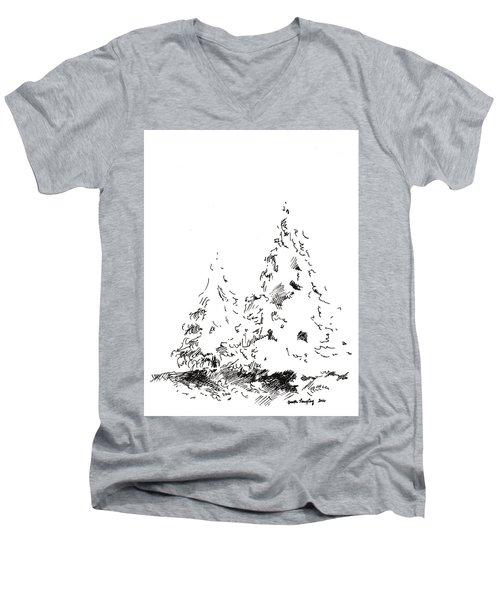 Winter Trees 1 - 2016 Men's V-Neck T-Shirt