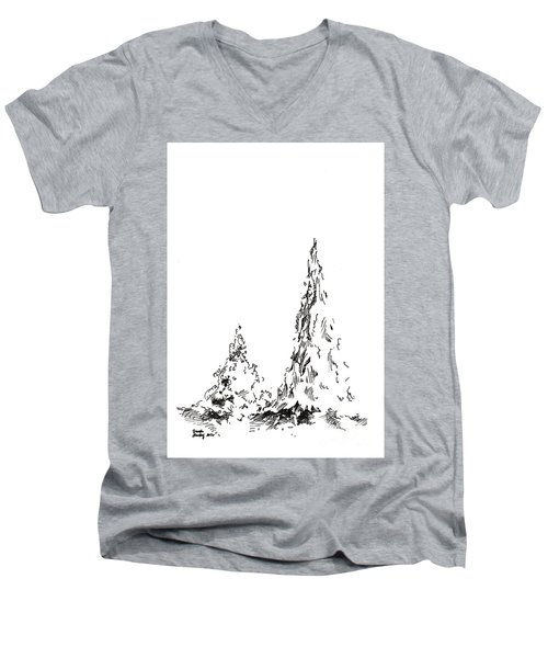Winter Trees 2 - 2016 Men's V-Neck T-Shirt