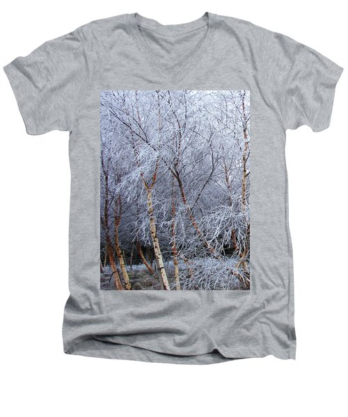 Winter Trees Men's V-Neck T-Shirt by Jacqi Elmslie