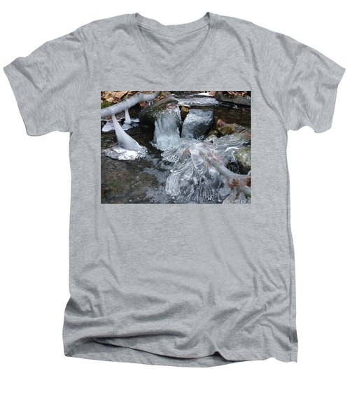 Winter Water Flow 4 Men's V-Neck T-Shirt