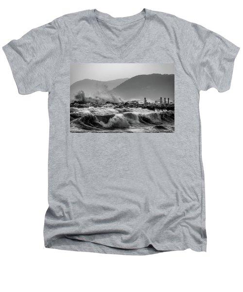 Winter Waves Men's V-Neck T-Shirt