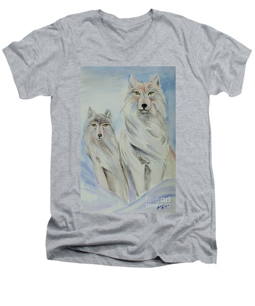 Winter Wolves Men's V-Neck T-Shirt