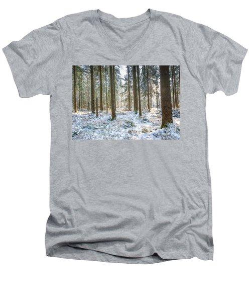 Men's V-Neck T-Shirt featuring the photograph Winter Wonderland by Hannes Cmarits
