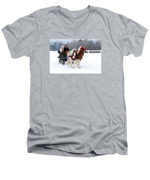 Winter Wonderland Men's V-Neck T-Shirt by James Kirkikis