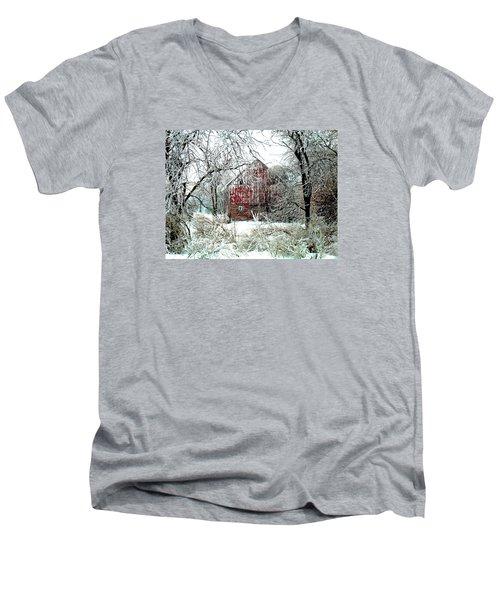 Winter Wonderland Men's V-Neck T-Shirt by Julie Hamilton