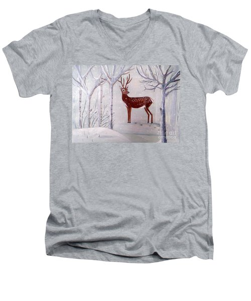 Winter Wonderland - Painting Men's V-Neck T-Shirt