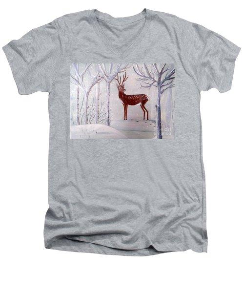 Winter Wonderland - Painting Men's V-Neck T-Shirt