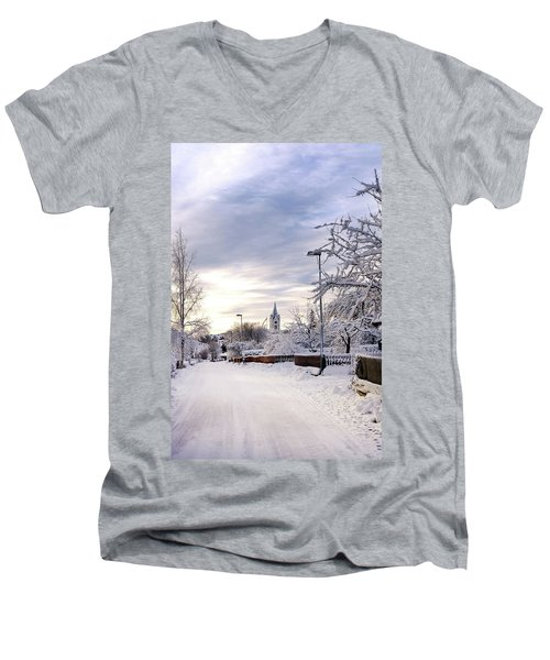 Winter Wonderland Redux Men's V-Neck T-Shirt by Marius Sipa