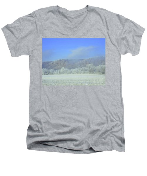Winter's An Etching... Men's V-Neck T-Shirt