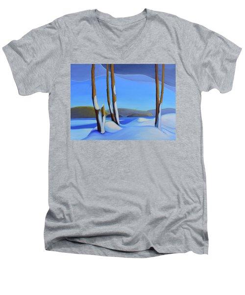 Winter's Calm Men's V-Neck T-Shirt