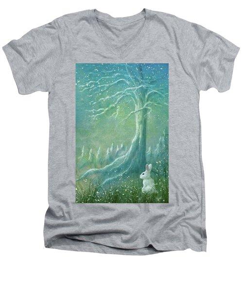 Winters Coming Men's V-Neck T-Shirt