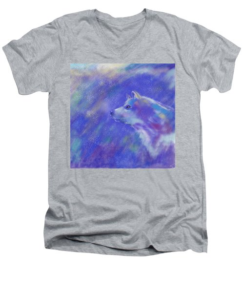 Winter's Dream Men's V-Neck T-Shirt