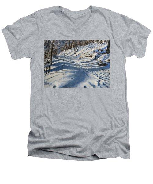 Winter's Shadows Men's V-Neck T-Shirt