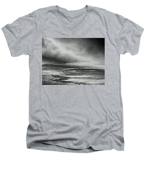 Men's V-Neck T-Shirt featuring the photograph Winter's Song by Steven Huszar