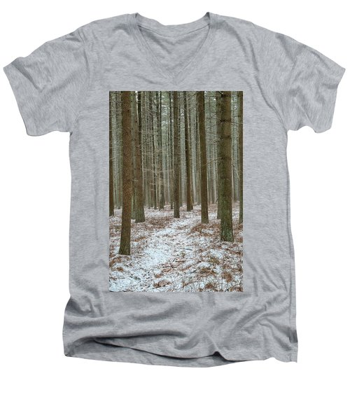 Winter's Trail Men's V-Neck T-Shirt