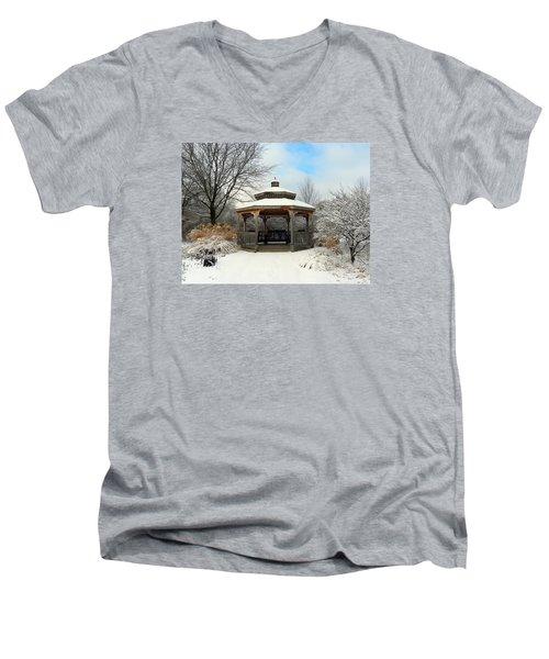Wintertime Men's V-Neck T-Shirt by Teresa Schomig