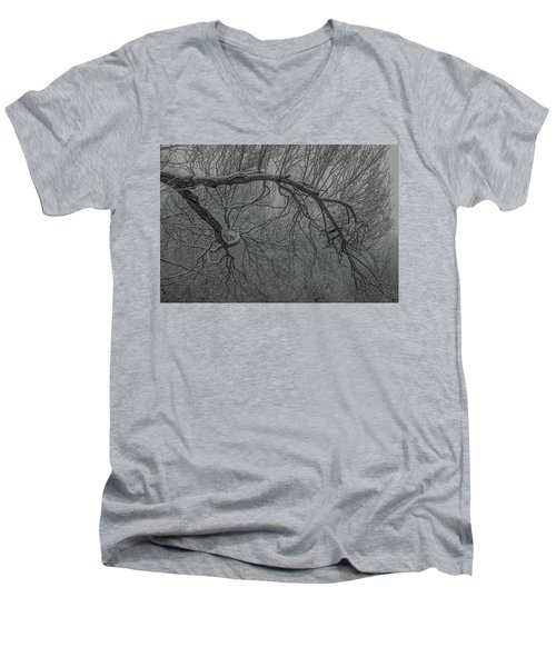 Wintery Tree Men's V-Neck T-Shirt