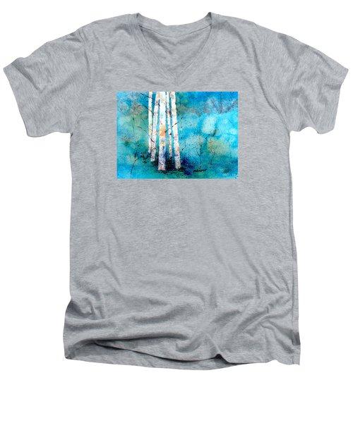 Wintry Aspen Men's V-Neck T-Shirt