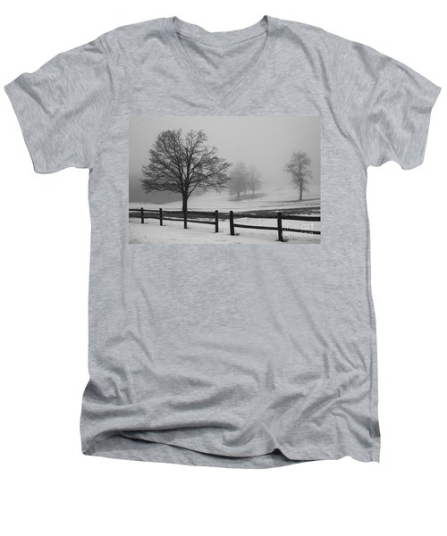 Wintry Morning Men's V-Neck T-Shirt