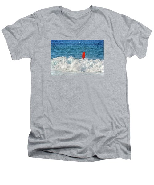 Men's V-Neck T-Shirt featuring the photograph Wipe Out by David Lawson