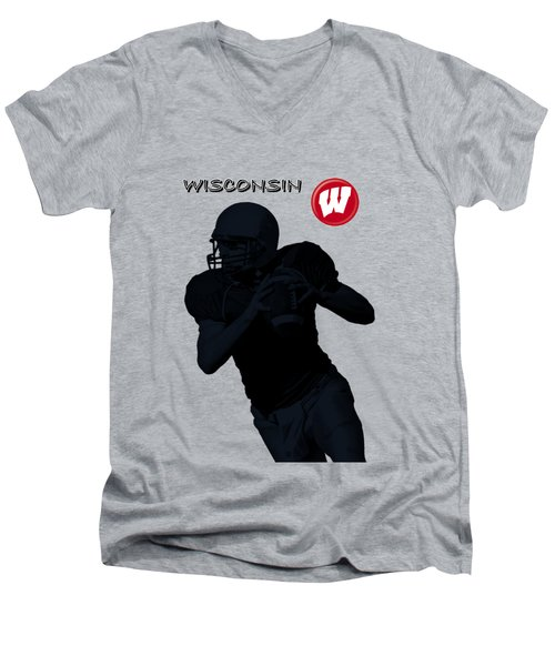 Wisconsin Football Men's V-Neck T-Shirt