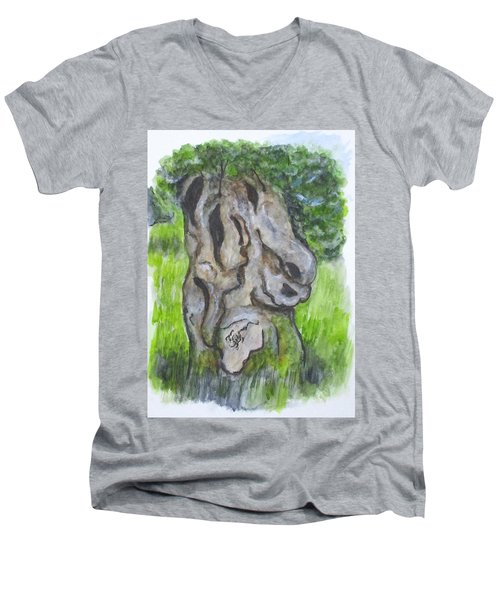 Wisdom Olive Tree Men's V-Neck T-Shirt